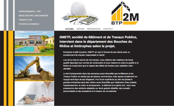 2M BTP Marseille – Site wordpress