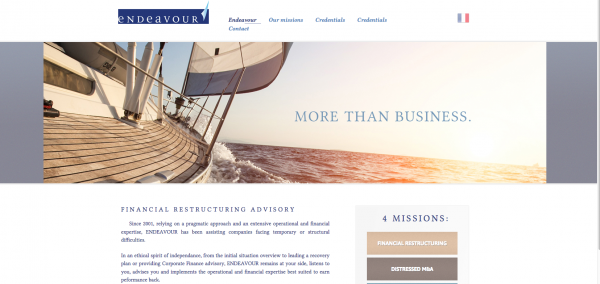Endeavour – Restructuring Financier Operationnel web site